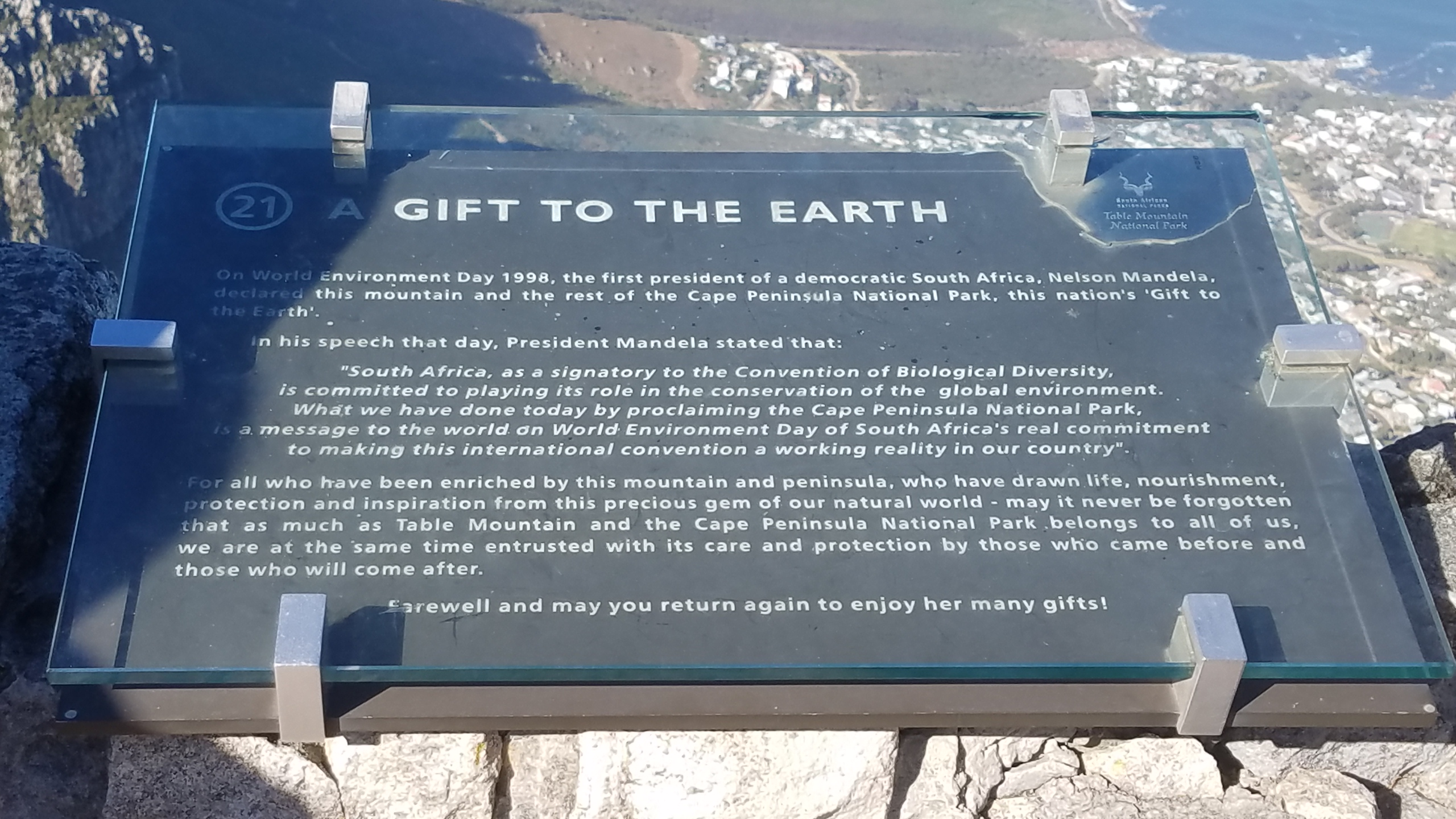 Table Mountain Gift To The Earth