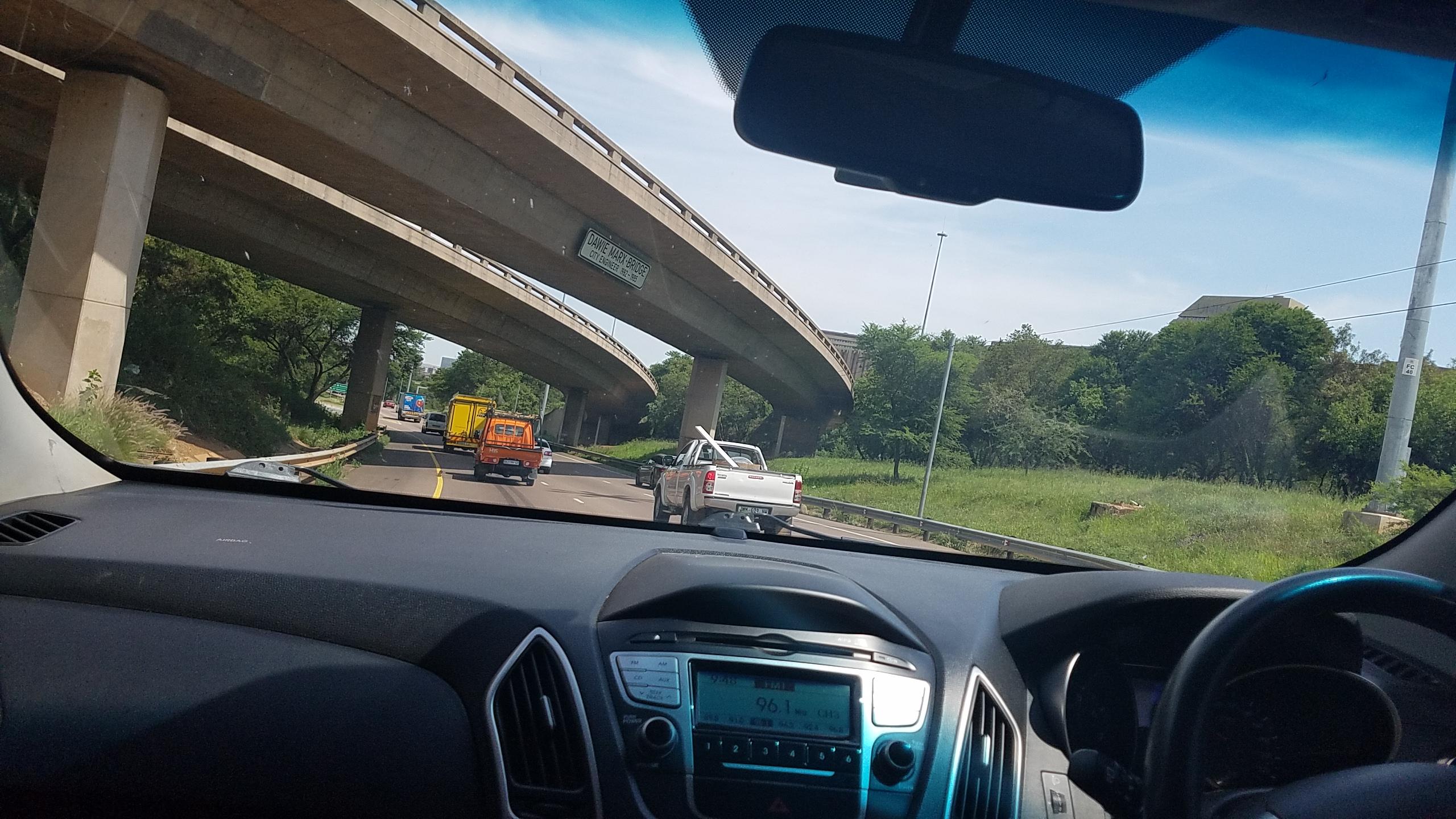 Driving Through Pretoria Going To Pilanesberg